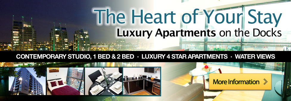 the heart of your stay luxury apartments on the docks,Contemporary studio,1 bed& 2 bed. Luxury 4 star apartments